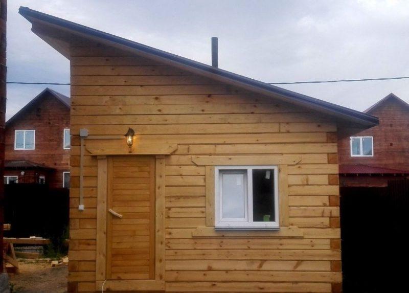 «Баня с односкатной крышей. Как сделать односкатную крышу для бани своими руками?» фото - banja odnoskatnaja krysha 2 800x573