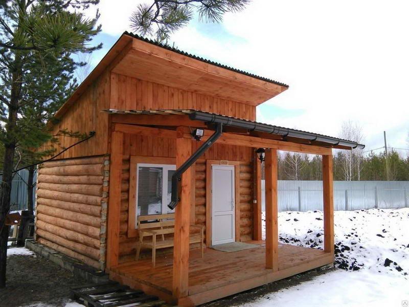 «Баня с односкатной крышей. Как сделать односкатную крышу для бани своими руками?» фото - banja odnoskatnaja krysha 3 800x600