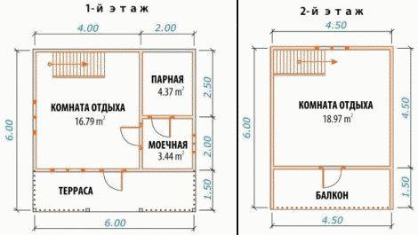 «Проекты бань 6 на 6 с мансардой: преимущества, особенности составления» фото - banya 6 6 mansarda 11