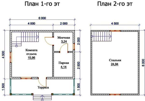 «Проекты бань 6 на 6 с мансардой: преимущества, особенности составления» фото - banya 6 6 mansarda 9