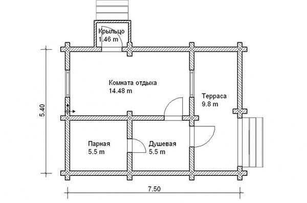 «Баня из шлакоблоков: преимущества, особенности. Этапы строительства бани из шлакоблоков своими руками» фото - banya shlakoblok 5