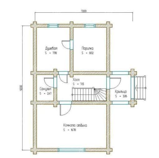 «Баня из шлакоблоков: преимущества, особенности. Этапы строительства бани из шлакоблоков своими руками» фото - banya shlakoblok 6