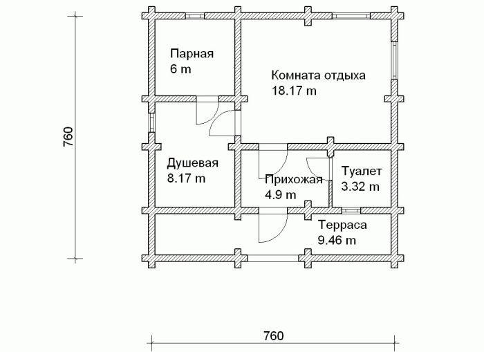 «Баня из шлакоблоков: преимущества, особенности. Этапы строительства бани из шлакоблоков своими руками» фото - banya shlakoblok 7