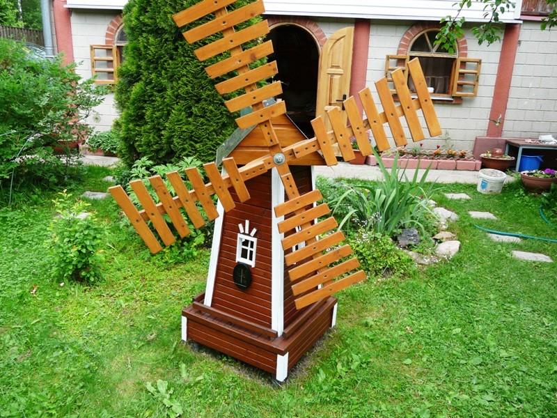 «Делаем декоративную мельницу в саду своими руками» фото - images