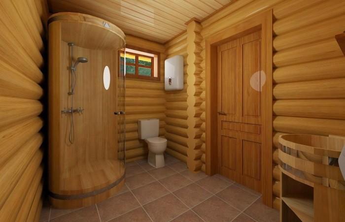 «Внутренняя отделка бани из бруса: идеи, советы и фото» фото - vnut otdelka brevno 10
