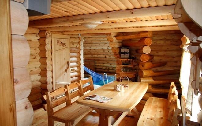 «Внутренняя отделка бани из бруса: идеи, советы и фото» фото - vnut otdelka brevno 2