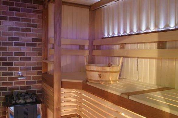 «Внутренняя отделка бани из бруса: идеи, советы и фото» фото - vnut otdelka brevno 3