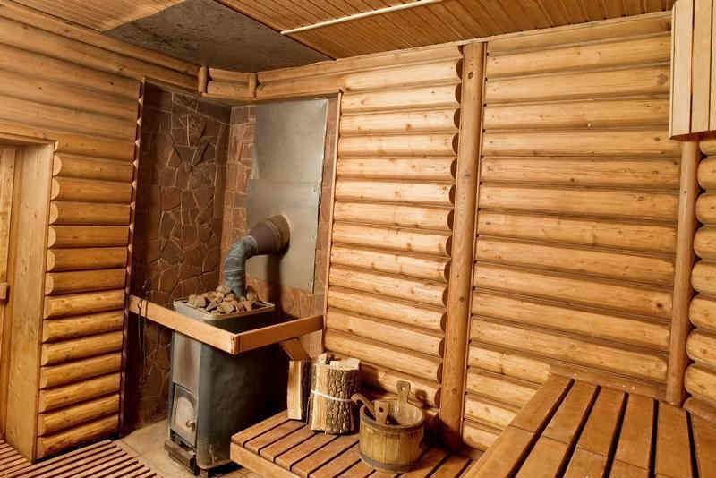 «Внутренняя отделка бани из бруса: идеи, советы и фото» фото - vnut otdelka brevno 6 800x534