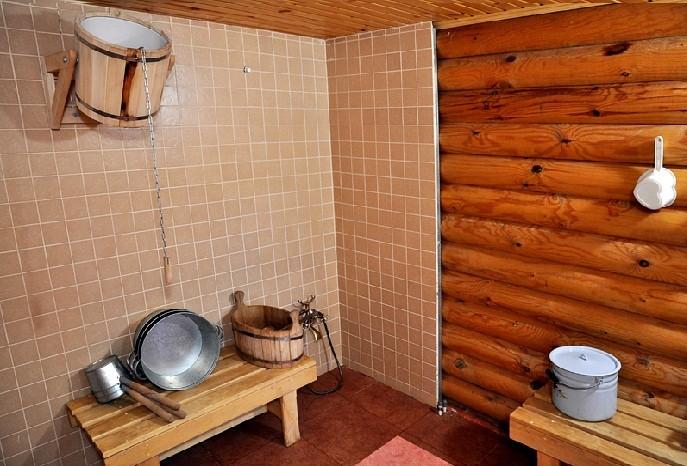 «Внутренняя отделка бани из бруса: идеи, советы и фото» фото - vnut otdelka brevno 8