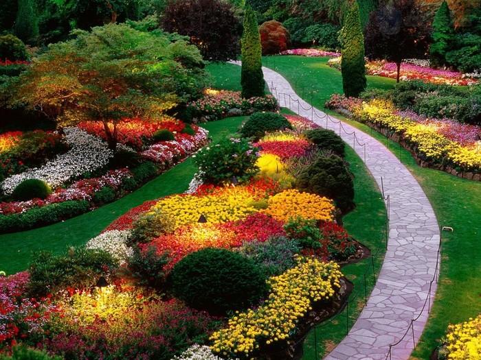 «Как правильно сделать клумбу для цветов» фото - 104505194 4019326 sunkengardenbutchartgardenssaanichpeninsulabritishcolumbiacanada
