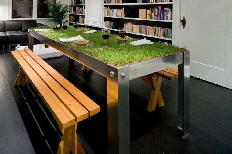 «Как сделать уличный стол своими руками: инструкция и лучшие идеи» фото - 1411652551 dizayn stolov 10 800x534