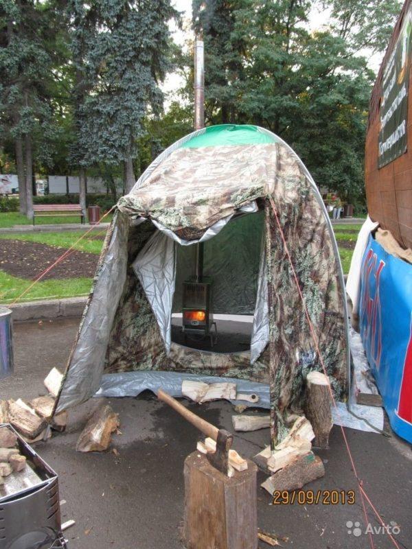 «Палатка для мобильной бани» фото - 2451152639 600x800