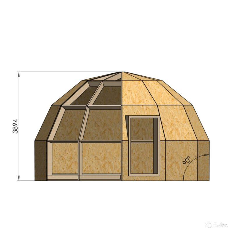 «Каркас-конструктор дома, бани, гаража 28 кв.м» фото - 3267822704 800x800