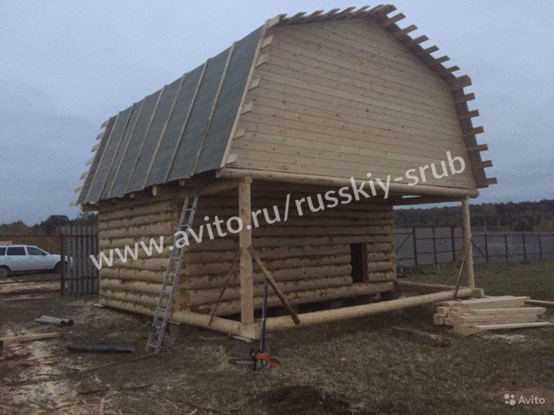 «Сруб бани с верандой 215 000 рублей» фото - 4283885676 800x600