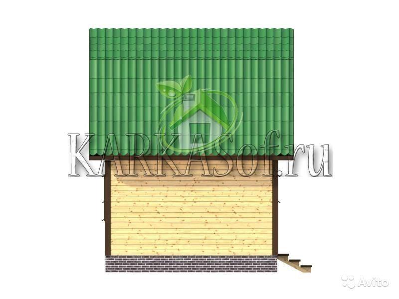 «Двухэтажная баня из бруса размером 4.5 на 7 м Каркасоф Проект 11» фото - 4466997917 800x600