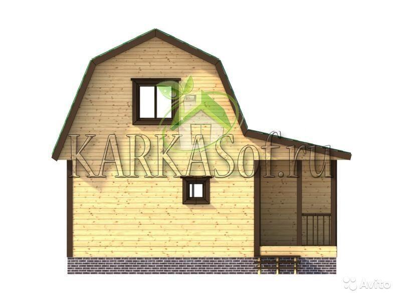 «Двухэтажная баня из бруса размером 4.5 на 7 м Каркасоф Проект 11» фото - 4466997923 800x600