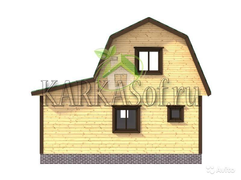 «Двухэтажная баня из бруса размером 4.5 на 7 м Каркасоф Проект 11» фото - 4466997928 800x600