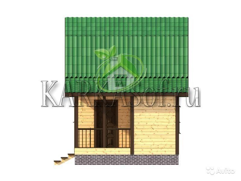 «Двухэтажная баня из бруса размером 4.5 на 7 м Каркасоф Проект 11» фото - 4466997929 800x600