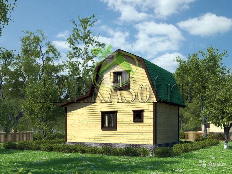 «Двухэтажная баня из бруса размером 4.5 на 7 м Каркасоф Проект 11» фото - 4466997937 800x600
