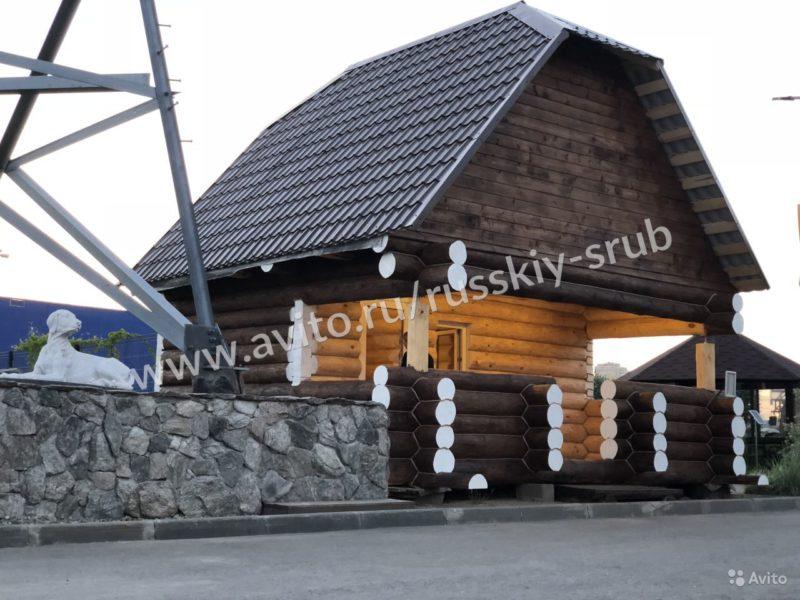 «Сруб бани\дома с мансардой» фото - 4468754901 800x600