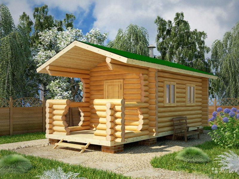 «Баня готовая купить в Москве 7х2,25 м2 с крыльцом» фото - 4496045283 800x600