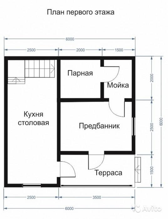 «Двухэтажная баня 63 м2» фото - 4501651636