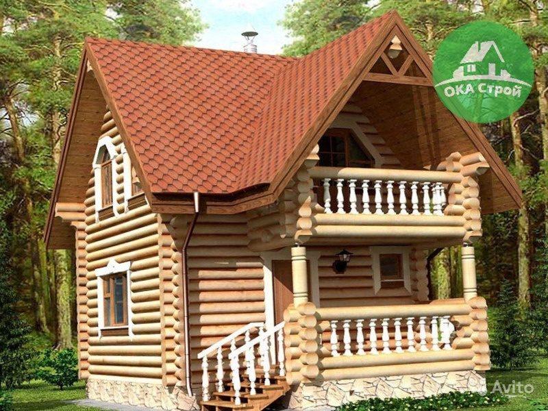 «Двухэтажная баня с балконом и с террасой Арт.57-220 по проекту Подольск-3» фото - 4533563958 800x600