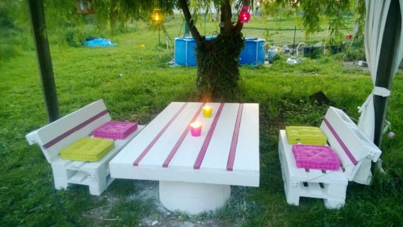 «Как сделать уличный стол своими руками: инструкция и лучшие идеи» фото - Stol dlya dachi 14 800x451