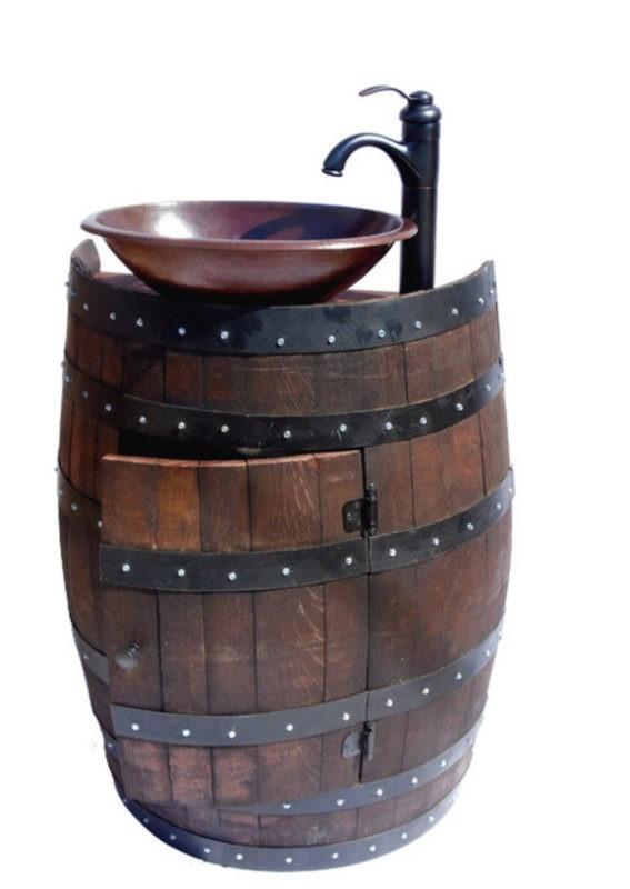 «Как сделать бочку из дерева своими руками?» фото - wine barrell rustic bathroom vanities and sink consoles 800x 567x800