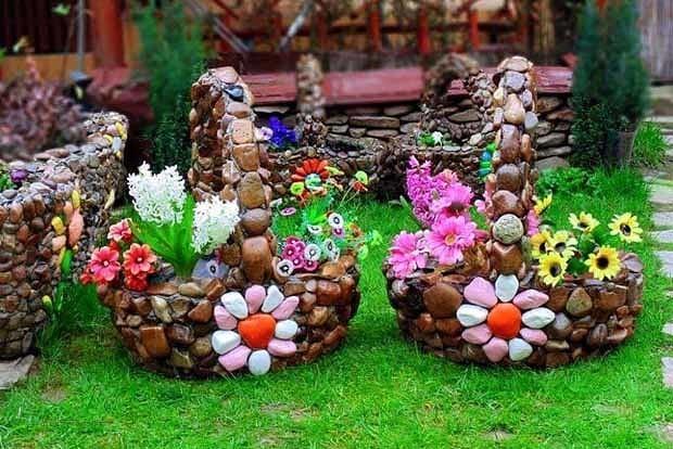 «Как сделать декор для сада своими руками - инструкция и фото идеи» фото - 10 2