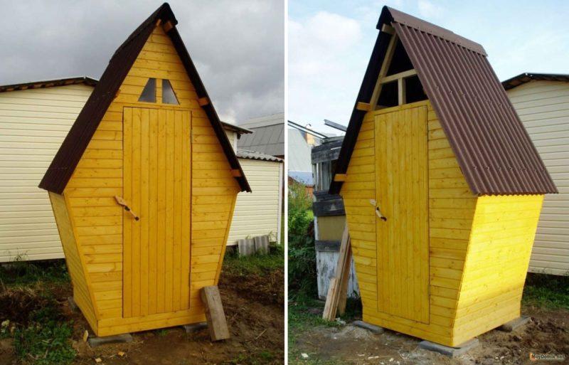 «Туалет для дачи Теремок - как сделать своими руками, где купить, идеи для туалета» фото - 1494857088 tualet teremok www.moydomik.net vid speredi 800x513