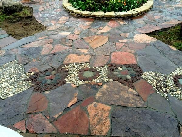 «Дорожки из плитняка на дачном участке» фото - 15 1