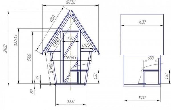 «Туалет для дачи Теремок - как сделать своими руками, где купить, идеи для туалета» фото - 3524fb1631823db5654d552b7caf2c19