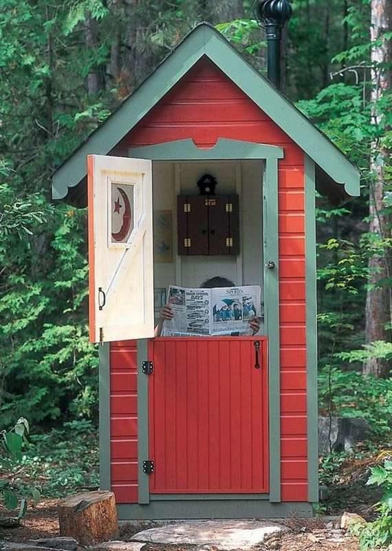 «Туалет для дачи Теремок - как сделать своими руками, где купить, идеи для туалета» фото - 4 3 570x800