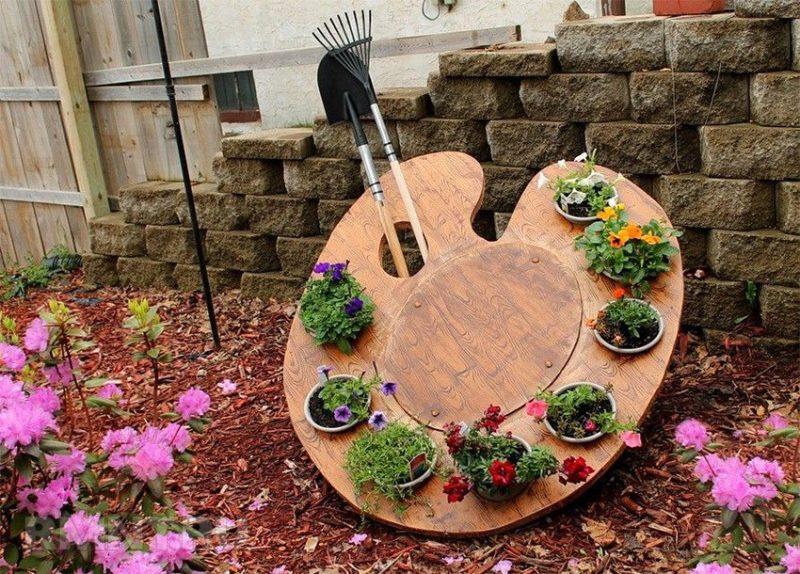 «Как сделать декор для сада своими руками - инструкция и фото идеи» фото - 5 1 800x574