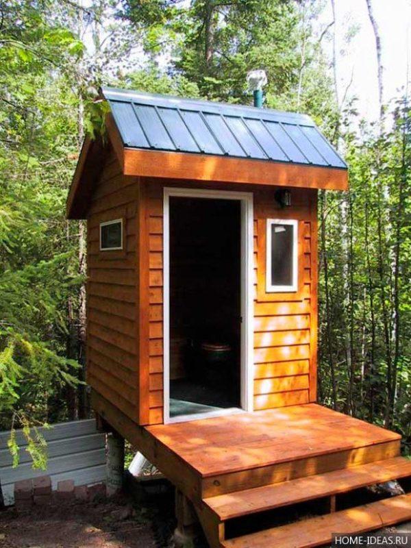«Туалет для дачи Теремок - как сделать своими руками, где купить, идеи для туалета» фото - 6 4 600x800