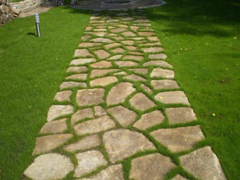 «Дорожки из плитняка на дачном участке» фото - 8 7 800x600