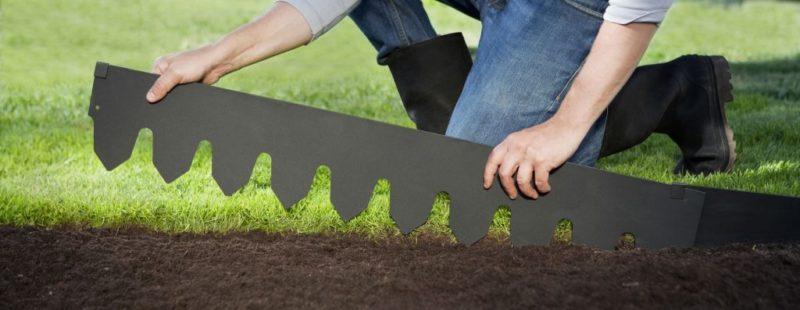 «Как сделать садовый бордюр своими руками: пошаговая инструкция» фото - Border Edge 0412 b 1024x397 800x310
