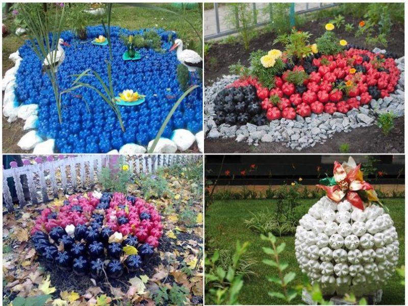 «Как сделать клумбу цветом на дачном участке?» фото - Klumba mozaika 800x600