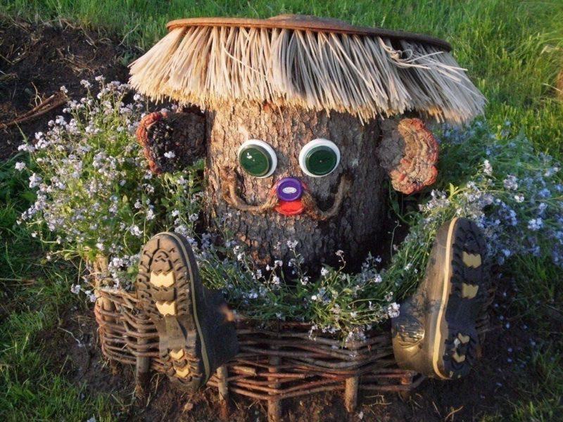 «Как сделать декор для сада своими руками - инструкция и фото идеи» фото - image 800x600