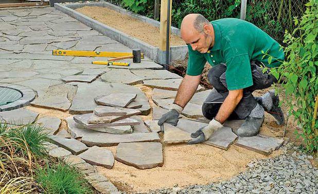 «Дорожки из плитняка на дачном участке» фото - terrasse beton oder naturstein 3