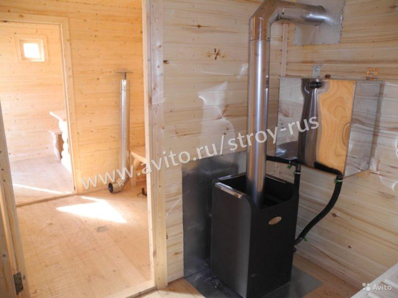 «Баня под ключ 2.1х6.0м. в блок-хаусе» фото - 3507579635 800x600