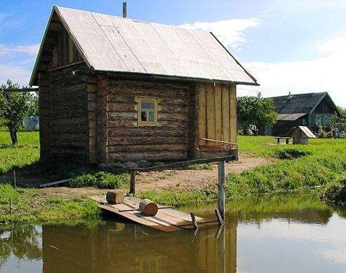 «Баня на реке и на берегу реки: преимущества, недостатки. Особенности строительства бани на реке и берегу реки» фото - banya reka 4
