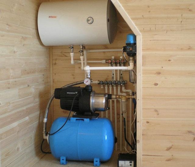 «Водопровод в бане: виды, особенности. Как сделать водоснабжение бани своими руками?» фото - vodosnabjenie 1