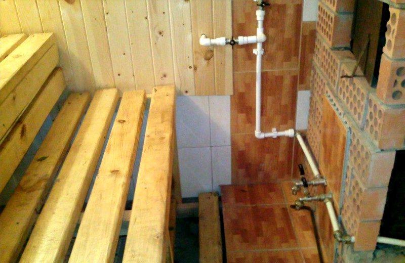 «Водопровод в бане: виды, особенности. Как сделать водоснабжение бани своими руками?» фото - vodosnabjenie 22 800x520