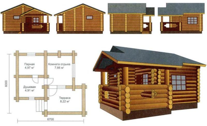 «Веранда к бане: фото, проекты. Как построить веранду к бане своими руками?» фото - veranda k bane 10 800x488