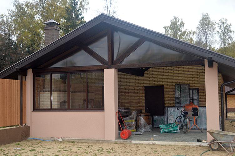 «Веранда к бане: фото, проекты. Как построить веранду к бане своими руками?» фото - veranda k bane 17