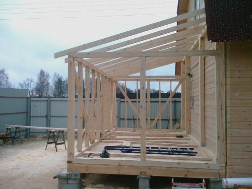 «Веранда к бане: фото, проекты. Как построить веранду к бане своими руками?» фото - veranda k bane 19