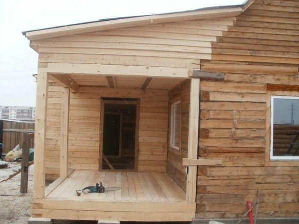 «Веранда к бане: фото, проекты. Как построить веранду к бане своими руками?» фото - veranda k bane 20