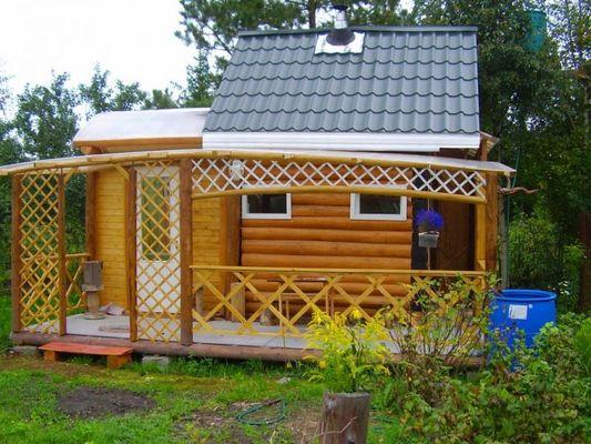 «Веранда к бане: фото, проекты. Как построить веранду к бане своими руками?» фото - veranda k bane 3